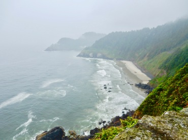Heceta Head Lighthouse coastline