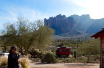Superstition Mountain in the background.