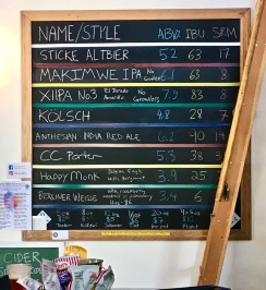 Double Bluff Brewing Menu, Langley